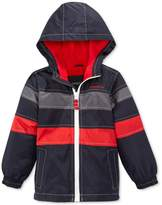 London Fog Boys' Reflective Fleece Hooded Spring Jacket
