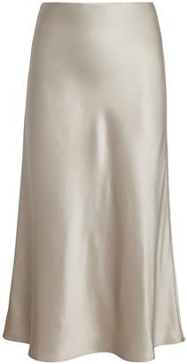 Intermix Mika Silk Slip Skirt