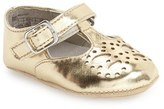 Kenneth Cole New York Infant Girl's 'Mela' Metallic Crib Shoe