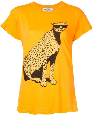 Wildfox Couture leopard print T-shirt