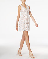 Bar III Lace Fit and Flare Dress, Created for Macy's