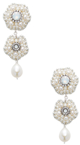Miguel Ases Descending Beaded & Pearl Statement Earrings