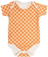 OMHome S/S Bodysuit - Orange-3-6 Months