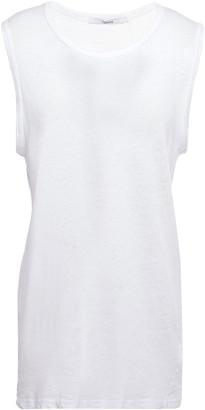 J Brand Slub Linen And Cotton-blend Jersey Tank