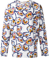 Marni Whisper print collarless shirt