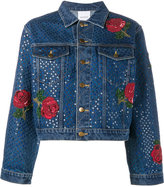 Ashish sequin embellished denim jacket - women - Cotton/Polyester/Metallic Fibre - S