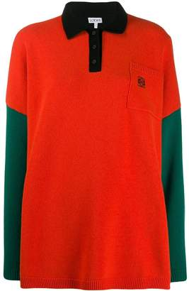 Loewe knitted colourblock polo shirt