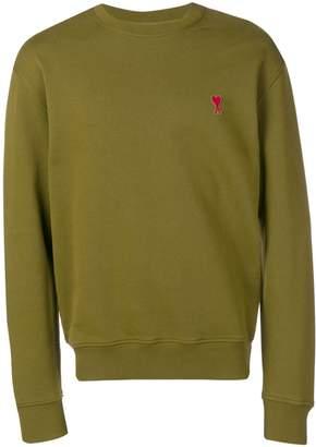 Ami Paris Crewneck Sweatshirt With Red De Coeur Patch