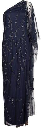 Adrianna Papell Long Beaded Kaftan Dress