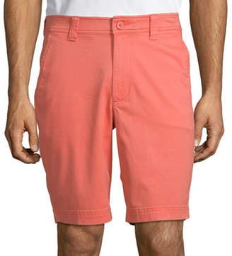 ST. JOHN'S BAY St. John`S Bay Men's Stretch Chino Short, 36 , Orange