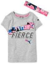 Puma Girls 4-6x) Two-Piece Pretty Fierce Tee & Headband Set