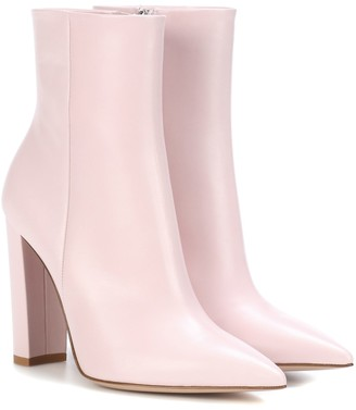 Gianvito Rossi Piper leather ankle boots