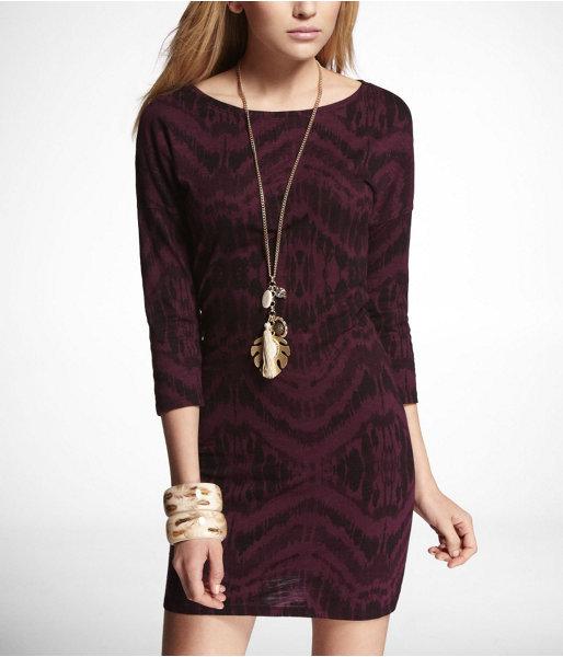 Express Ikat Print Drop Shoulder Dress