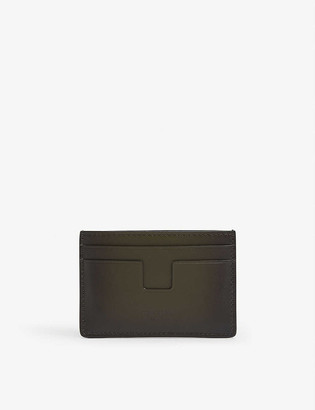 Tom Ford Burnished leather cardholder