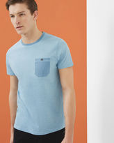 Ted Baker Mouliné cotton crew neck Tshirt