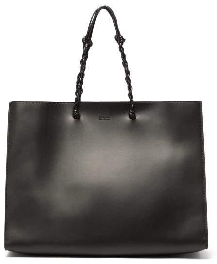 Jil Sander Tangle Medium Braided-strap Leather Tote Bag - Womens - Black