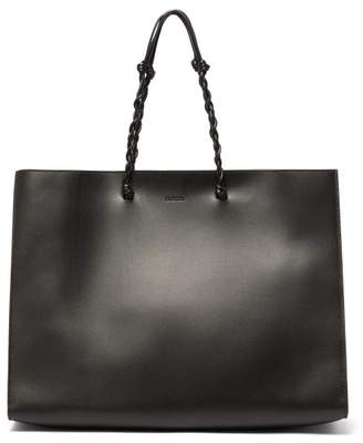 Jil Sander Tangle Medium Braided Strap Leather Tote Bag - Womens - Black