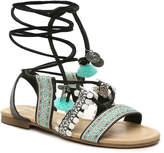 Mix No. 6 Women's Delvaux Gladiator Sandal -Black/Turquoise/White