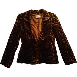 Hanae Mori Brown Velvet Jacket for Women Vintage