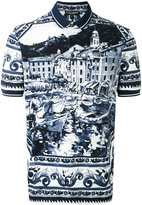 Dolce & Gabbana paisley print polo shirt