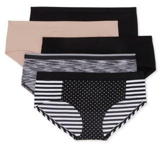 No Boundaries Women's Seamless Hipster Panty, 5-Pack