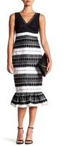 Nicole Miller V-Neck Embroidery Dress