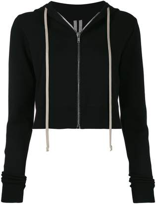 Rick Owens cropped hooded jacket