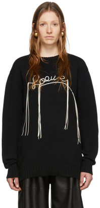 Loewe Black Knit Stitch Sweater