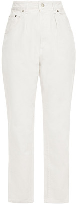IRO Pleated High-rise Tapered Jeans