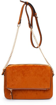 ELOQUII Faux Suede Crossbody - Extended Length