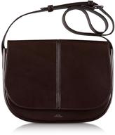A.P.C. Nelly Marron Leather Shoulder Bag