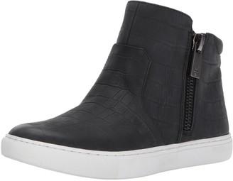 Kenneth Cole New York Women's Kiera Mid-Top Zippers Embossed Print Fashion Sneaker