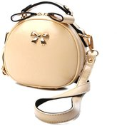 TianHengYi Women's Vintage Bowknot PU Leather Crossbody Shoulder Bag Girls Top Handle Handbag
