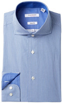 Isaac Mizrahi Printed Check Slim Fit Dress Shirt