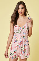 KENDALL + KYLIE Kendall & Kylie Ruffle Covered Button Front Romper