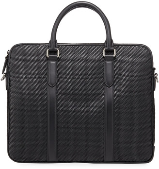 Ermenegildo Zegna Men's Pelle Tessuta Business Bag