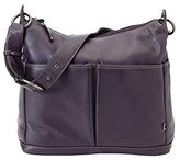 OiOi Leather Hobo Diaper Bag - Sugar Plum by