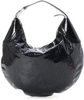 Gucci Pre-Owned Glam Hobo In Navy Patent Leather