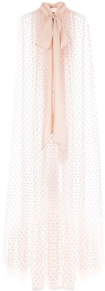 ADAM by Adam Lippes gathered dobby-dot tulle cape