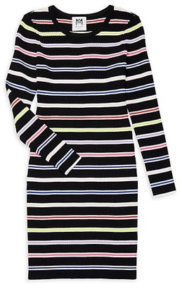 Milly Girl's Long-Sleeve Striped Dress