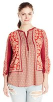 Lucky Brand Women's Plus-Size Scarf-Print Top