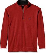 Nautica Men's Big and Tall Quarter-Zip Sweater