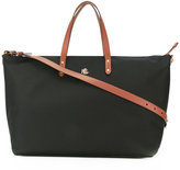 Lauren Ralph Lauren contrast handle tote - women - Leather/Nylon - One Size