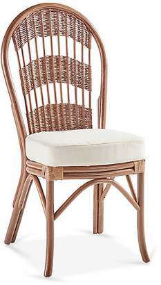 South Sea Rattan Bermuda Rattan Side Chair - Natural/White