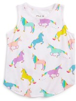 Chaser Toddler Girl's Unicorns Graphic Tank