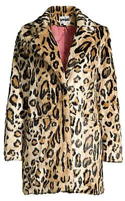 Apparis Women's Margot Leopard-Print Faux Fur Coat