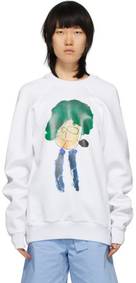 Plan C White Painting Print Sweatshirt