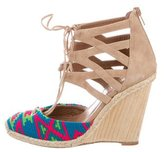 Aquazzura Woven Lace-Up Wedges