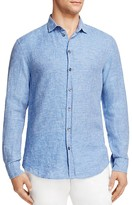 Armani Collezioni Linen Regular Fit Button-Down Shirt