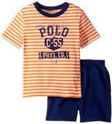 Ralph Lauren Yarn-Dyed Loft Jersey Graphic Shorts Set Boy's Active Sets